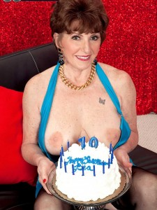 For Birthday Number 70 Bea Cummins Takes Two Dicks In Her Butt