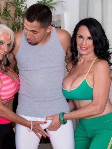 Mature Women Sally D'Angelo and Rita Daniels Share A Cock